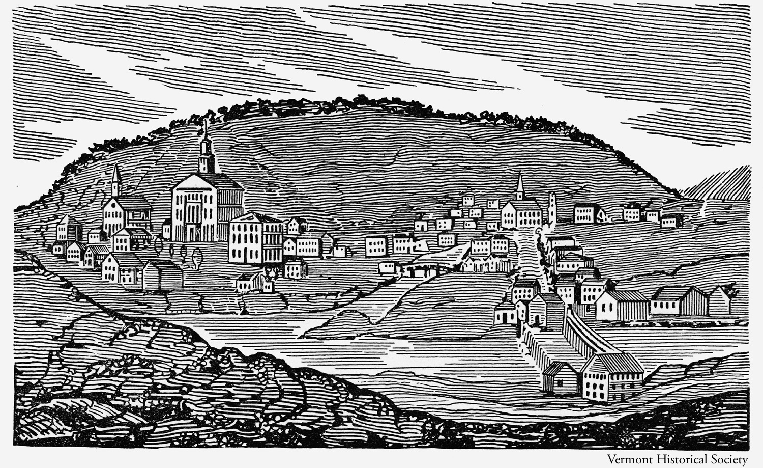 1821 View of Montpelier, Vermont