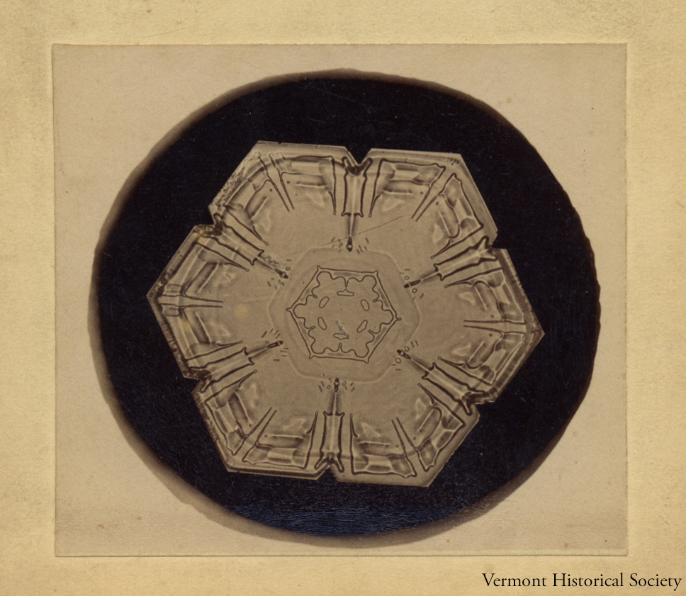 Bentley photographed this snowflake in about 1897.