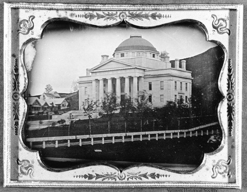 The second Vermont State House before the fire, about 1850.