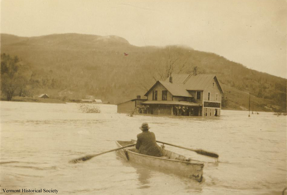 This photograph was taken in Bolton during the 1927 flood. Does your town have pictures from the flood?