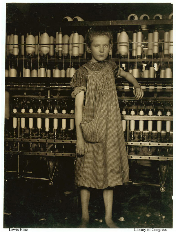 Addie Card worked in a North Pownal mill in 1910. How could this photograph be used to help stop child labor?