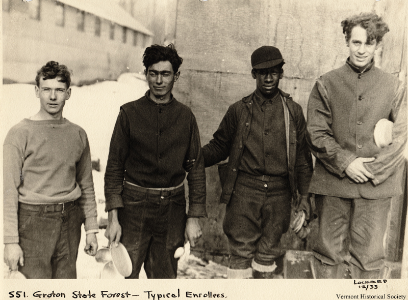 These men worked on projects at the Groton State Forest to earn money for their families during the Great Depression.