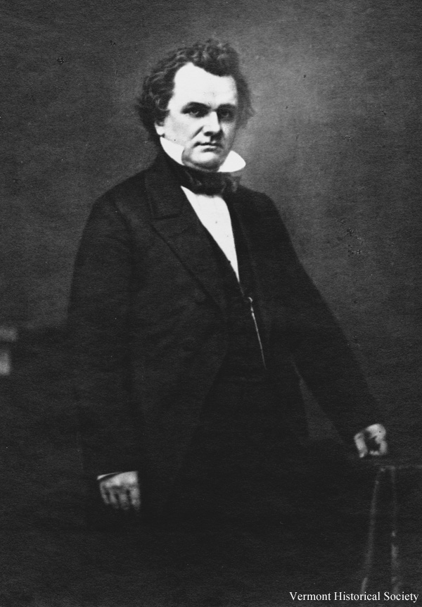Stephen Douglas moved west as a young man. Many other Vermonters also moved west in the mid-1800s.